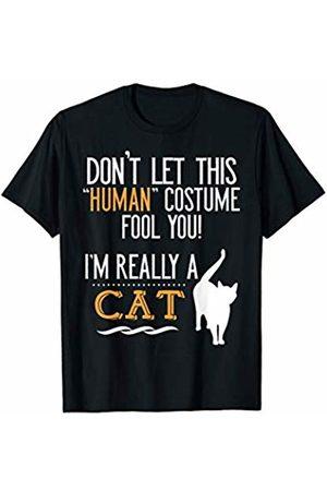 CuteComfy Cat Lover Human Costume Funny Halloween T-Shirt