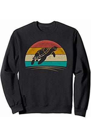 Wowsome! Sea Turtle Retro Vintage 70s Distressed Animal Men Women Sweatshirt