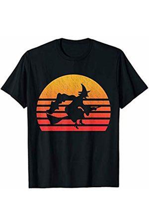 Classic Vintage Retro T-Shirts Vintage Retro Sunset Witch T-Shirt