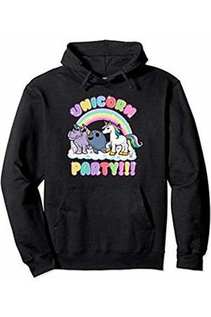 Magical Unicorn Squad Gift Shop Unicorn Party Narwhal Rhino Unicorns Cute Kids Girls Women Pullover Hoodie