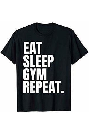 Neon Arcade Eat Sleep Gym Repeat T Shirt