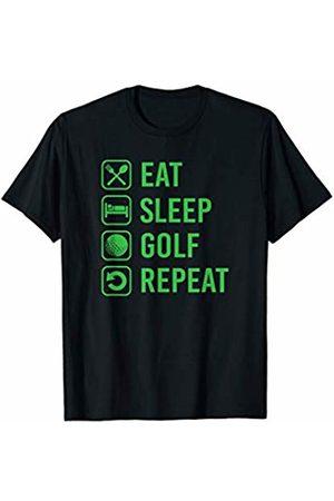 Funny Golf Christmas Gift Eat Sleep Golf Repeat T-Shirt
