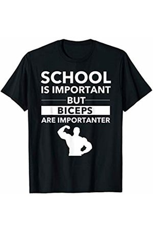 Fun Gym Workout T Shirt Biceps Are Importanter - Beast Engaged Workout Gym Mode T-Shirt