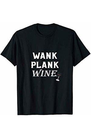 Yoga Funny Shirts YOGA PLANKING T SHIRT Funny Wank Plank Wine Drinking Tee