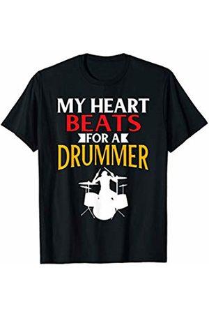 That's Life Brand Women T-shirts - MY HEART BEATS FOR A DRUMMER T SHIRT