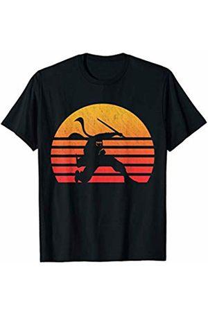 Classic Vintage Retro T-Shirts Vintage Retro Sunset Ninja T-Shirt