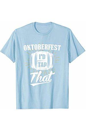 Oktoberfest Apparel by BUBL TEES German Oktoberfest I'd Tap That Funny Beer Keg T-Shirt