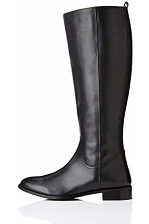 FIND Flat Knee Length Leather High Boots, )