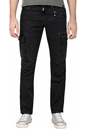Timezone Men Trousers - Men's Regular Bentz Trouser, (Caviar 9151)