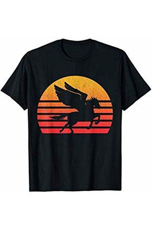 Classic Vintage Retro T-Shirts Vintage Retro Sunset Pegasus T-Shirt