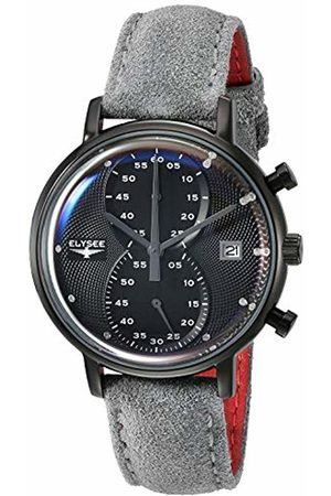 ELYSEE Unisex Adult Analogue Quartz Watch with Leather Strap 83825