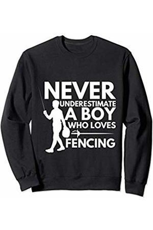 Cultures Fencing Novelty Gifts And Shirts Boy Who Loves Fencing Sports Gift Idea For Men jt Sweatshirt