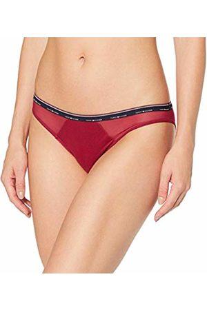 Tommy Hilfiger Women's Micro Stripe Bikini Boy Shorts, (Beet -PT 610)