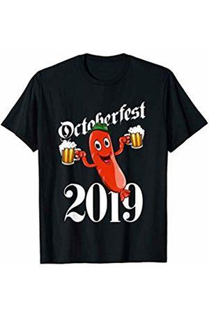 Oktoberfest Apparel by BUBL TEES Drunk Sausage Wurst Brats Oktoberfest 2019 Party Prost Beer T-Shirt
