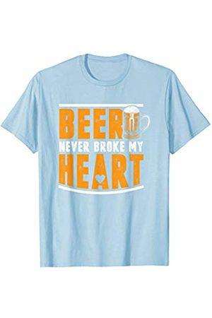 Oktoberfest Apparel by BUBL TEES Beer Never Broke My Heart Oktoberfest Beer Party T-Shirt