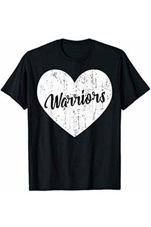 School Spirit Sports Team Apparel & Tees Warriors School Sports Fan Team Spirit Mascot Heart Gift T-Shirt