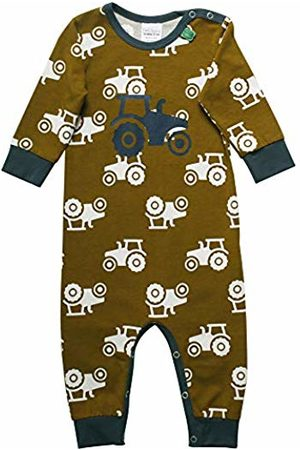 Green Cotton Baby Boys' Tractor Shaping Bodysuit