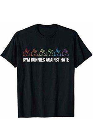 Gay Gym Workout Apparel and Gifts Gym Bunnies Against Hate Shirt Gay Workout Fitness Gift LGBT T-Shirt