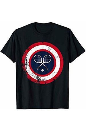 Tennis Club Comic Superhero Sports Lover Gifts Captain Tennis Funny Superhero Sports Legend T-Shirt