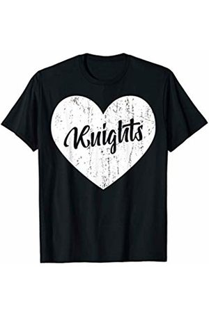 School Spirit Sports Team Apparel & Tees Knights School Sports Fan Team Spirit Mascot Heart Gift T-Shirt