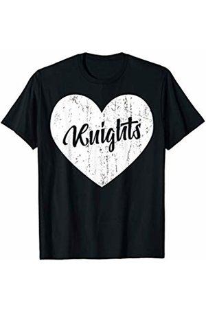 School Spirit Sports Team Apparel & Tees Knights School Sports Fan Team Spirit Mascot Heart Gift T-Shirt