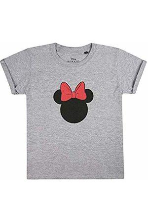 Disney Girl's Minnie Mouse Silhouette T-Shirt, ( Marl SPO)