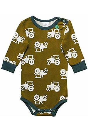 Green Cotton Baby Boys' Tractor Body Shaping Bodysuit