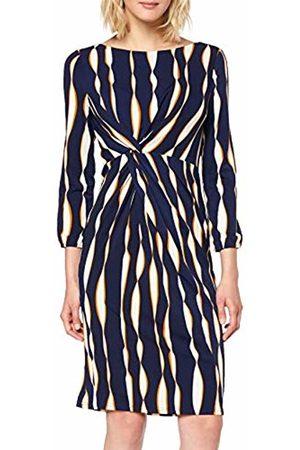 Apart Women's Printed Dress, Midnightblue-Multicolor