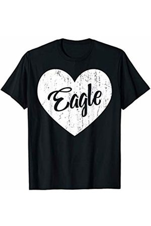School Spirit Sports Team Apparel & Tees Eagles School Sports Fan Team Spirit Mascot Heart Gift T-Shirt