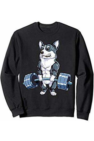 Corgi DU Clothing Corgi Weightlifting Shirt Deadlift Men Fitness Gym Workout Sweatshirt