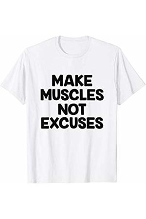 CherryLove Make Muscles Not Excuses -Motivational Gym Fitness T-shirt