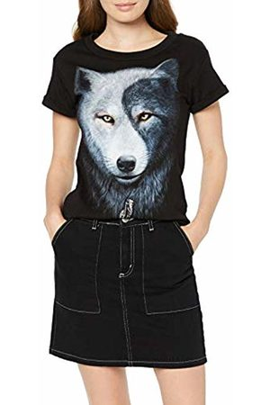 Spiral Direct Women's Wolf Roses - Large Hood Ripped Hoody - & 004