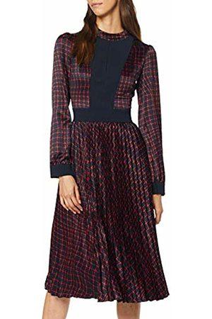 Apart Women's Printed Satin Dress Midnightblue- -Bordeaux