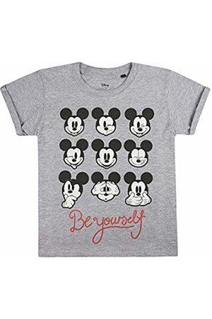Disney Girl's Be Yourself T-Shirt, ( Marl SPO)