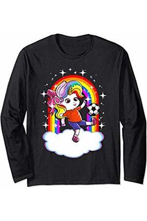 Magical Unicorn Squad Gift Shop Soccer Unicorn Sports Unicorns Cute Girls Kids Youth Women Long Sleeve T-Shirt