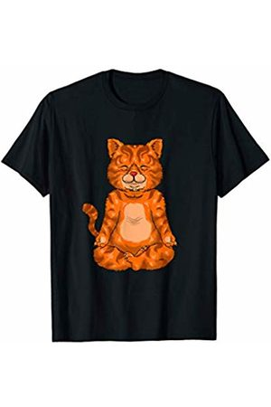 Funny Cat Shirts By TK Meditating Yoga Cat Funny Cat Lover Cute Spiritual Graphic T-Shirt