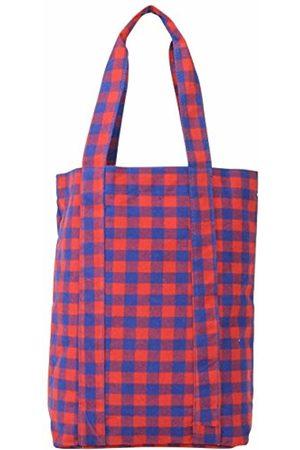 Mi-Pac Tote Bag Satchel - Gingham Rd/Blu - 40cm / 17.5L