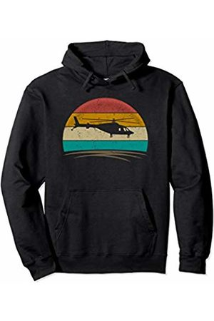 Wowsome! Vintage Helicopter Pilot Retro 70s Distressed Crew Men Women Pullover Hoodie