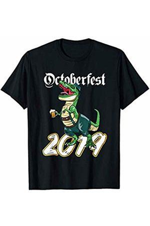Oktoberfest Apparel by BUBL TEES T Rex Dinosaur Oktoberfest 2019 Lederhosen Prost Beer T-Shirt