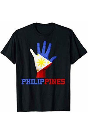 Vishtea PHILIPPINES Hand Up Flag Tshirt I Love PHILIPPINES Travel T-Shirt