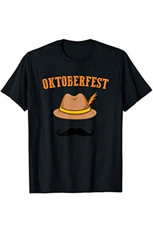 Oktoberfest Apparel by BUBL TEES Oktoberfest Beer Festival German Hat Mustache T-Shirt