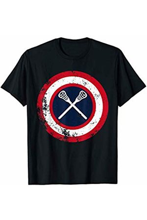 Carry Pass Catch Lacrosse Gifts Captain Lacrosse Player Funny Superhero Sports Team T-Shirt