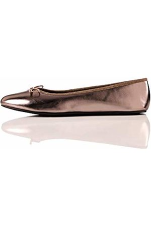FIND Women Ballerinas - Simple Closed Toe Ballet Flats, Silber )