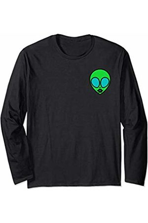 !RALUPOP Green Alien | Funny Woman Alien With Sexy Lips Long Sleeve T-Shirt