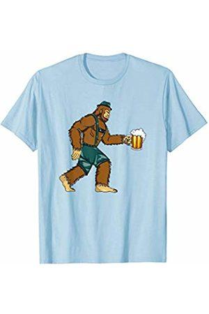 Oktoberfest Apparel by BUBL TEES Bigfoot Oktoberfest 2019 Lederhosen Prost Beer Sasquach Yeti T-Shirt