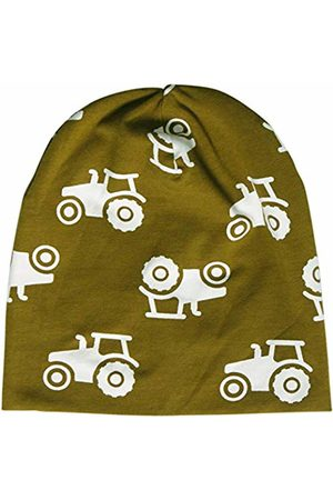 Green Cotton Baby Boys' Tractor Beanie Hat