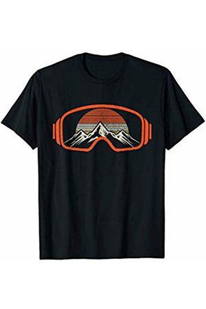 Ski & Snowboard Apparel Co. Men T-shirts - Ski & Snowboard Vintage Retro Mountains Winter Sports Gift T-Shirt