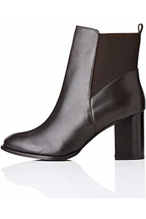 FIND High Heeled Leather Chelsea Boots, )