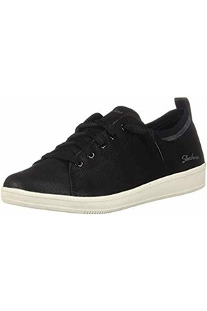 Skechers Women's Madison AVE Trainers, ( Micro Leather/Off Trim BKW)