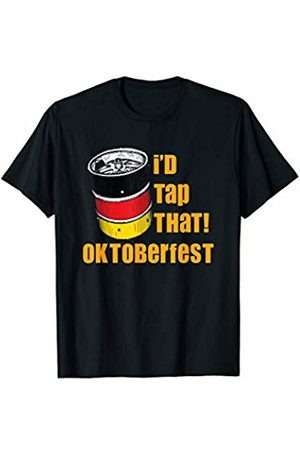 Oktoberfest Apparel by BUBL TEES I'd Tap That German Oktoberfest Festival Beer Keg T-Shirt
